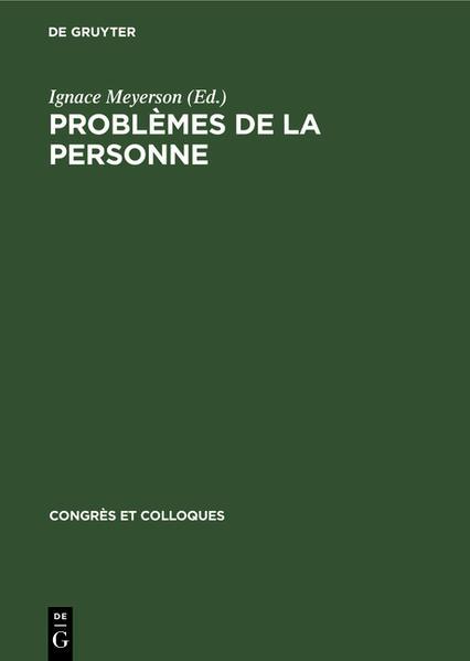Problèmes de la personne - Coverbild