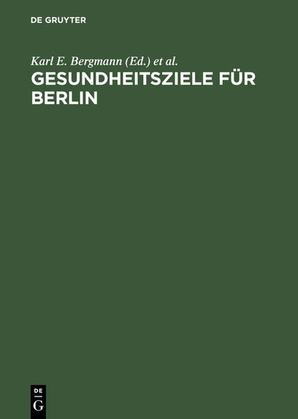 Gesundheitsziele für Berlin - Coverbild