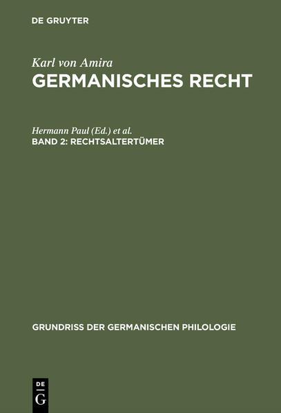 Germanisches Recht / Rechtsaltertümer - Coverbild