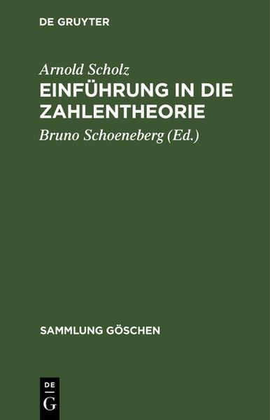 SG5131 SCHOLZ/SCHOENEBERG:  EINF I ZAHLENTH   5A - Coverbild