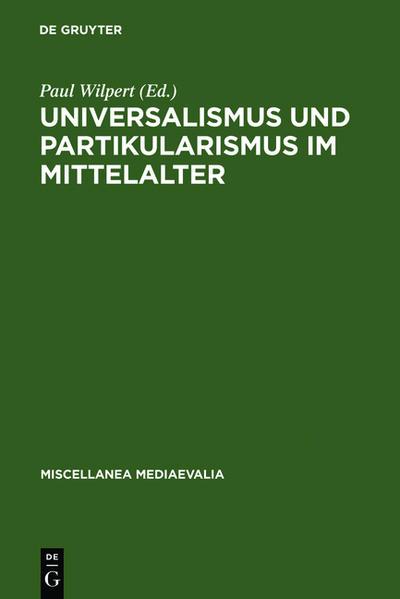 Universalismus und Partikularismus im Mittelalter - Coverbild