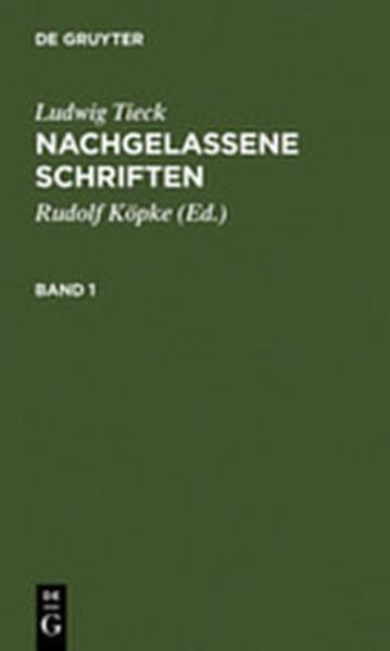 Nachgelassene Schriften - Coverbild