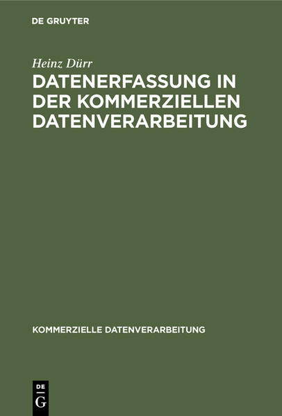 DUERR:DATENERFASSUNG IN KOM-MERZ DATENVERARB  KD - Coverbild