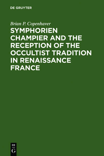 Symphorien Champier and the Reception of the Occultist Tradition in Renaissance France - Coverbild