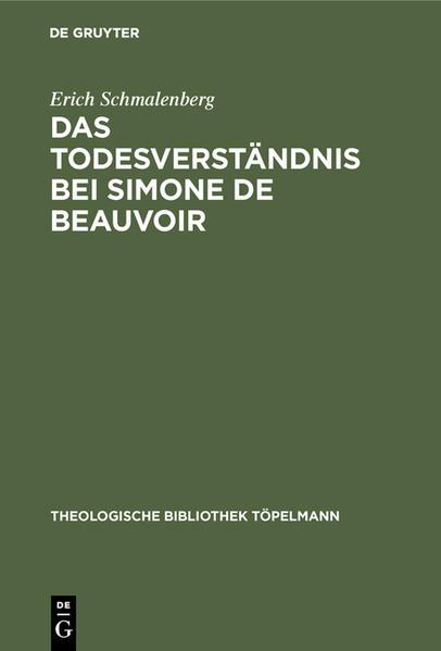 Das Todesverständnis bei Simone de Beauvoir - Coverbild
