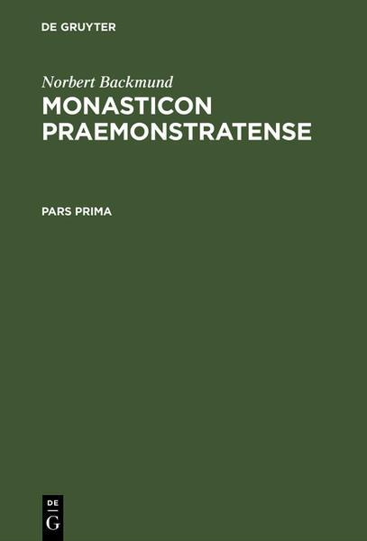 Monasticon Praemonstratense - Coverbild