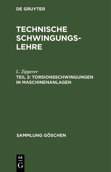 SG 961A  ZIPPERER TECHNISCHESCHWINGUNGSLEHRE 2 - Coverbild