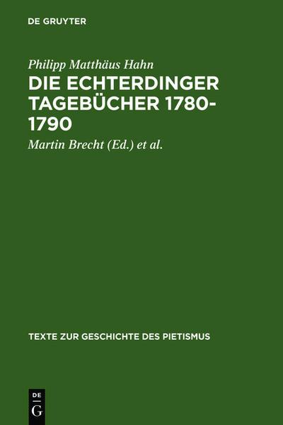 Die Echterdinger Tagebücher 1780-1790 - Coverbild