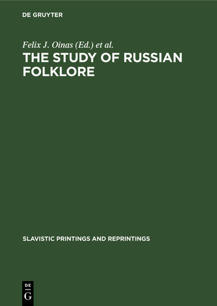 The Study of Russian Folklore - Coverbild