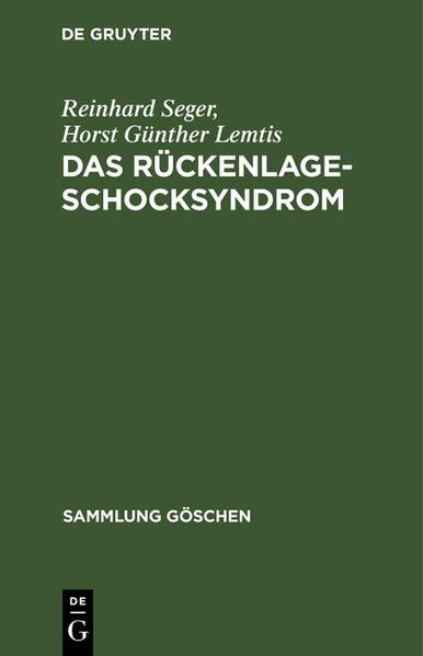 SG7004 LEMTIS/SEGER:RUECKEN-LAGE-SCHOCKSYNDROM - Coverbild