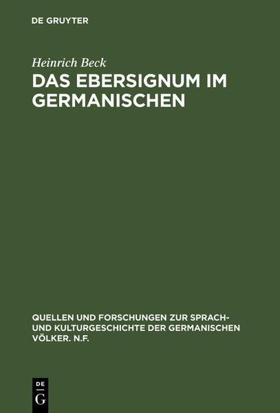 Das Ebersignum im Germanischen - Coverbild