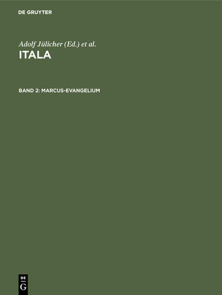 Itala / Marcus-Evangelium - Coverbild