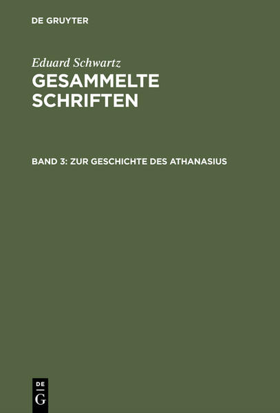 Zur Geschichte des Athanasius - Coverbild
