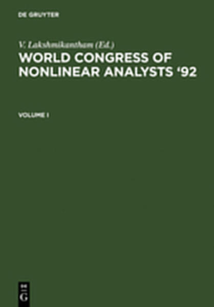 World Congress of Nonlinear Analysts '92 - Coverbild