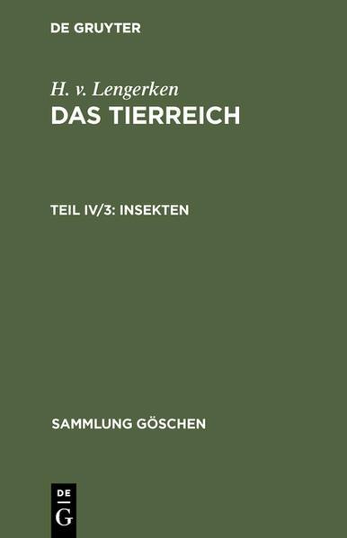SG 594  LENGERKEN:INSEKTEN  2A - Coverbild