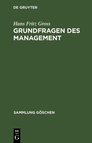 Grundfragen des Management - Coverbild