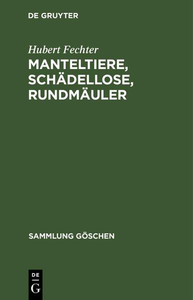 Manteltiere, Schädellose, Rundmäuler - Coverbild