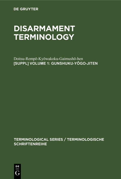 Disarmament Terminology / Japanese - Coverbild