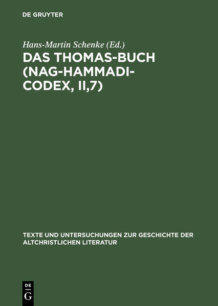 Das Thomas-Buch (Nag-Hammadi-Codex, II,7) - Coverbild