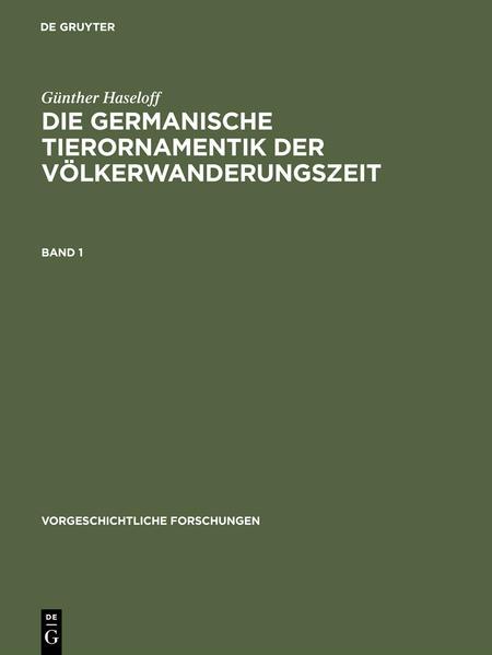 Die germanische Tierornamentik der Völkerwanderungszeit - Coverbild