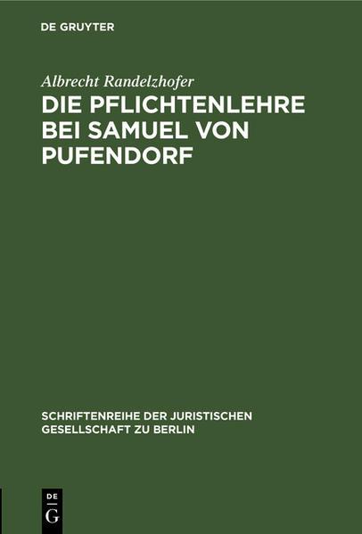 Die Pflichtenlehre bei Samuel von Pufendorf - Coverbild