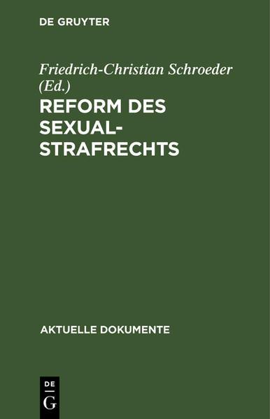REFORM D SEXUALSTRAFRECHTS  ADO - Coverbild