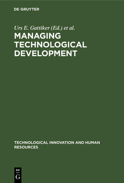 Managing Technological Development - Coverbild
