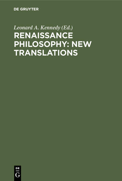 Renaissance Philosophy: New Translations - Coverbild