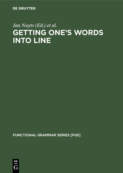 Getting One's Words into Line - Coverbild
