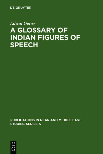 A Glossary of Indian Figures of Speech - Coverbild