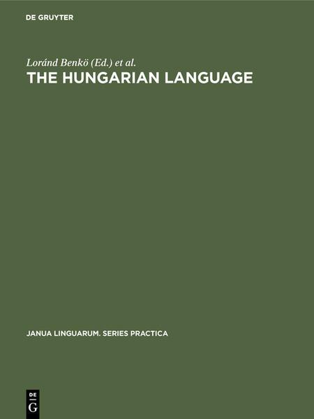 The Hungarian Language - Coverbild