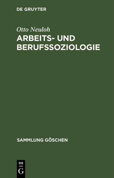 Arbeits- und Berufssoziologie - Coverbild