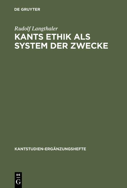 Kants Ethik als System der Zwecke - Coverbild