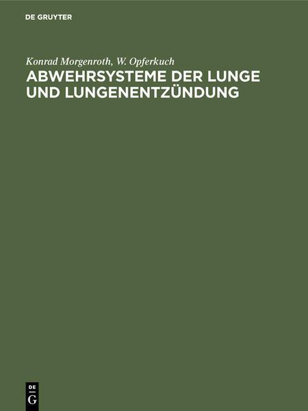 Abwehrsysteme der Lunge und Lungenentzündung - Coverbild