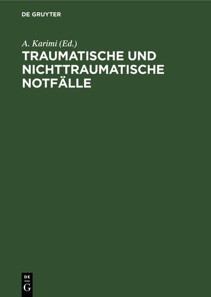 Traumatische und nichttraumatische Notfälle - Coverbild