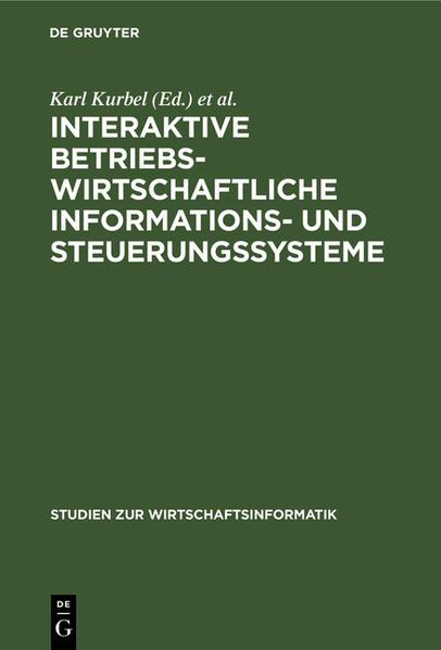 Interaktive betriebswirtschaftliche Informations- und Steuerungssysteme - Coverbild