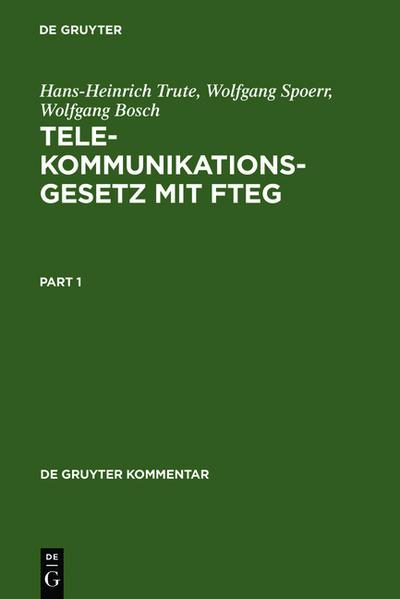 Telekommunikationsgesetz mit FTEG - Coverbild