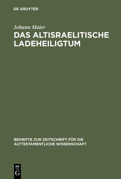 Das altisraelitische Ladeheiligtum - Coverbild
