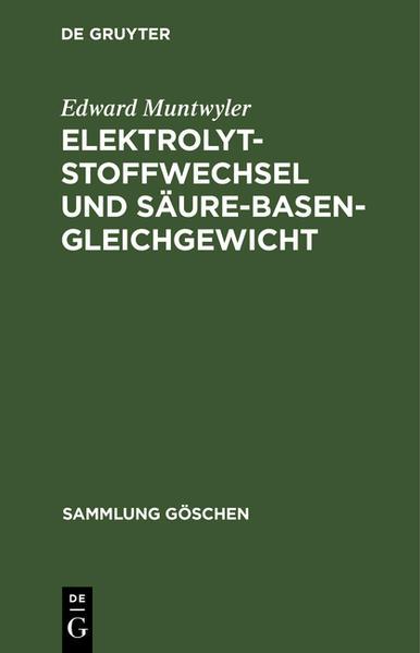 Elektrolytstoffwechsel und Säure-Basen-Gleichgewicht - Coverbild