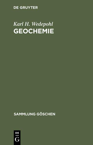 Geochemie - Coverbild