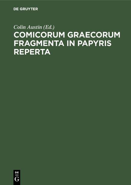 Comicorum Graecorum Fragmenta in papyris reperta - Coverbild
