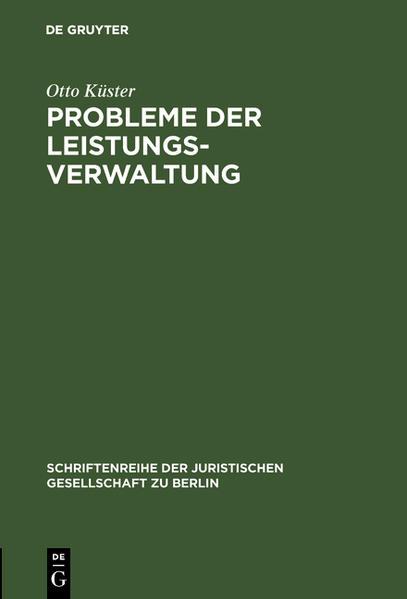 Probleme der Leistungsverwaltung - Coverbild