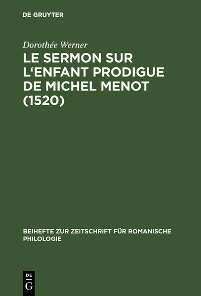 Le sermon sur l'Enfant prodigue de Michel Menot (1520) - Coverbild