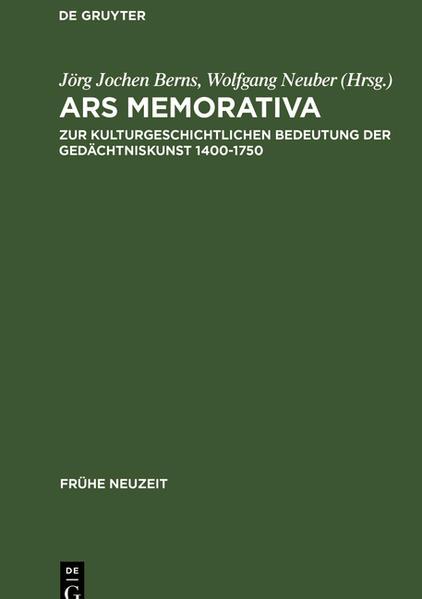 Ars memorativa - Coverbild