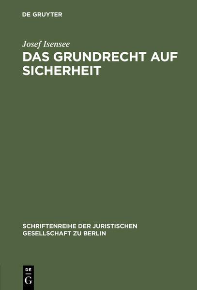 Das Grundrecht auf Sicherheit - Coverbild