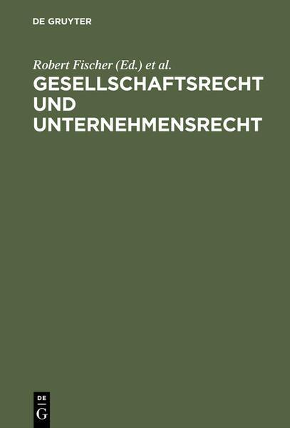 Gesellschaftsrecht und Unternehmensrecht - Coverbild