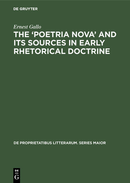 The 'Poetria Nova' and its Sources in Early Rhetorical Doctrine - Coverbild