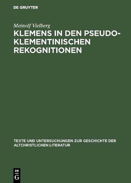 Klemens in den pseudoklementinischen Rekognitionen - Coverbild