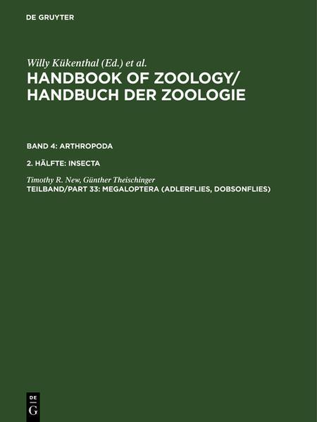 Handbook of Zoology/ Handbuch der Zoologie. Arthropoda. Insecta / Megaloptera (Adlerflies, Dobsonflies) - Coverbild