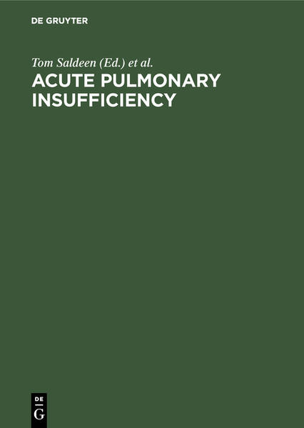 ACUTE PULMONARY INSUFFICIEN-CY         (SALDEEN) - Coverbild